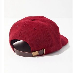 Urban Outfitters Accessories - Urban Outfitters Maroon Baseball Hat Felt OS NWT